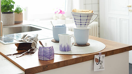 Painting porcelain - coffee place setting