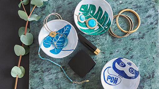 DIY painted jewellery dish