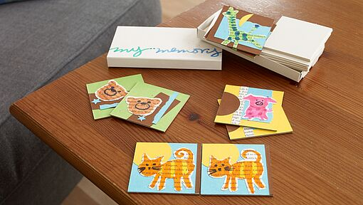 DIY memory game for children