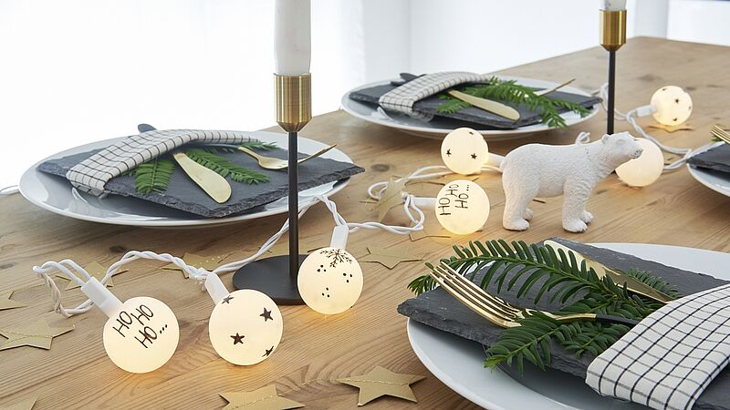 Ping pong ball string lights