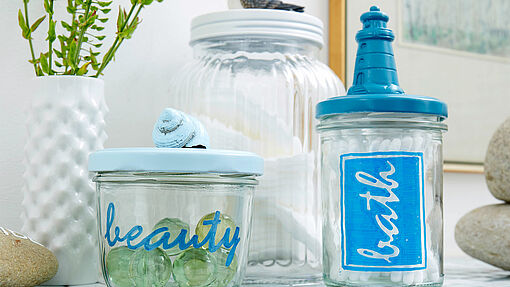 Upcycled glass jars