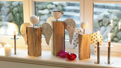 Traditional festive angels with a modern twist