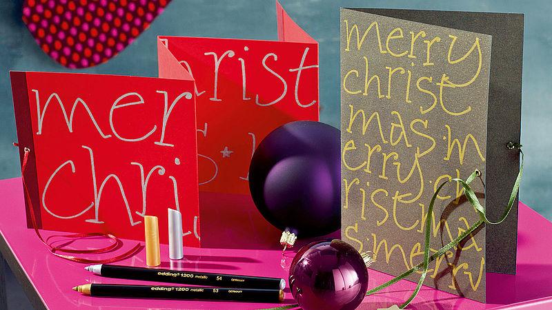 Weihnachtskarten Individuell Gestalten.Weihnachtskarten Selbst Gestalten Ideen Edding