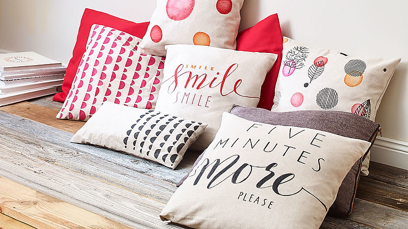 Create your own cushions
