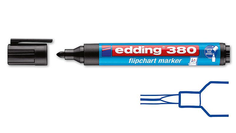 whiteboard marker edding 250 cap off rot Rundspitze Stärke 1,5-3 mm
