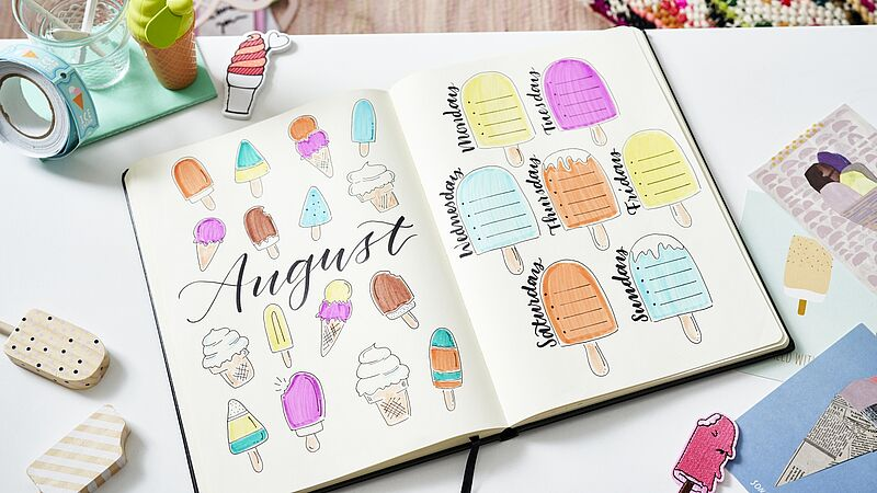 Bullet Journal August: weekly spread
