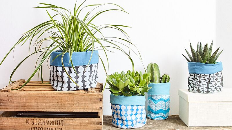 DIY fabric pots