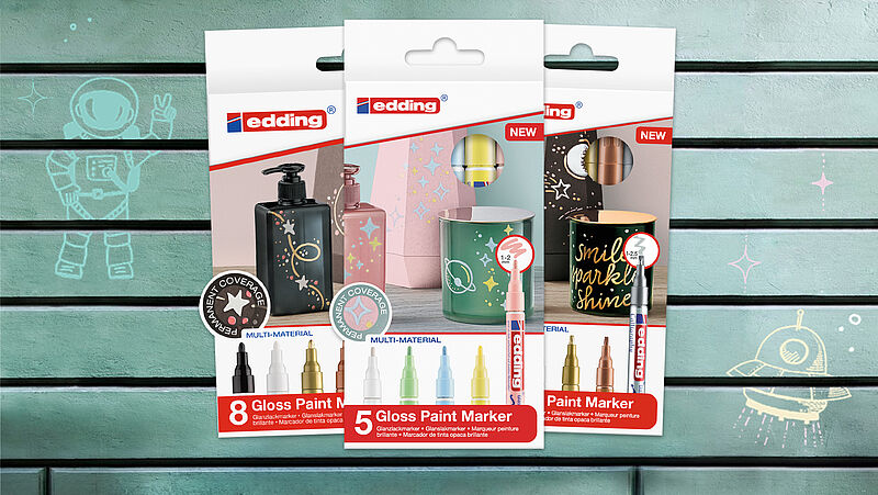 edding gloss paint marker sets