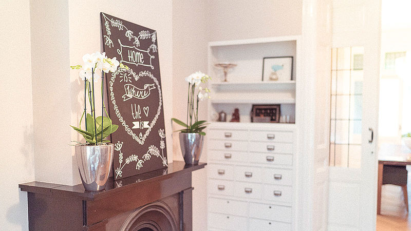 Decorate a chalkboard
