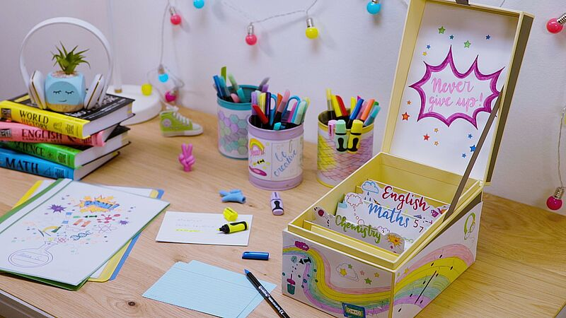 Personalise your index card box
