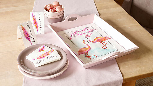 Flamingo table decor