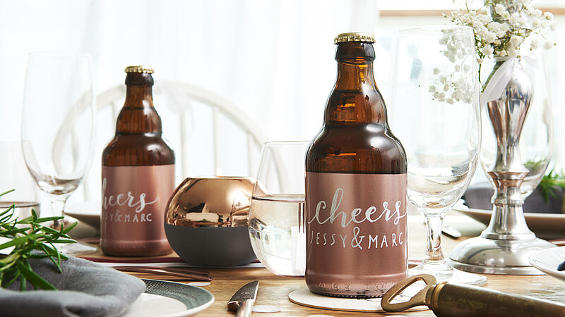 DIY beer wedding favours