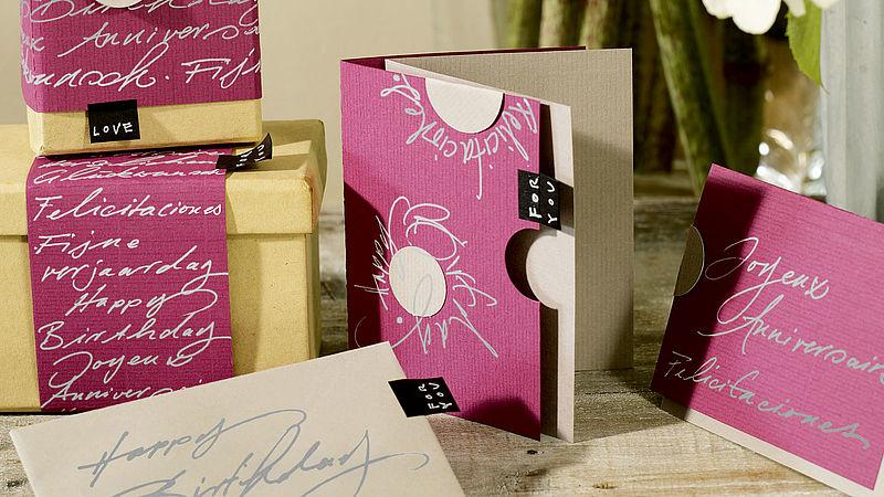 gl ckwunschkarte selbst gestalten ideen edding. Black Bedroom Furniture Sets. Home Design Ideas