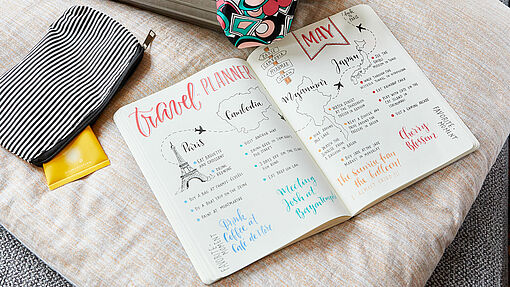 Bullet journal – favoriete reisbestemmingen