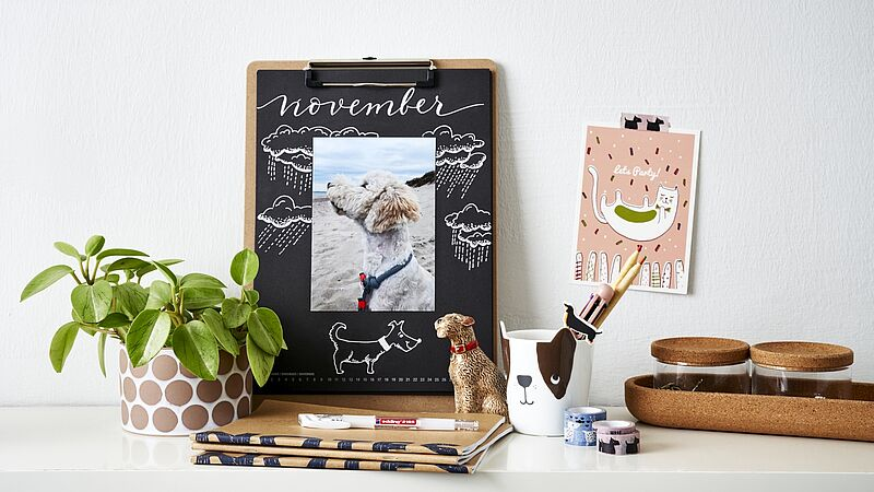 Un calendrier photos DIY