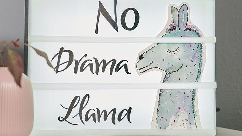 Stylische Lightbox Buchstaben Selbst Gestalten No Drama