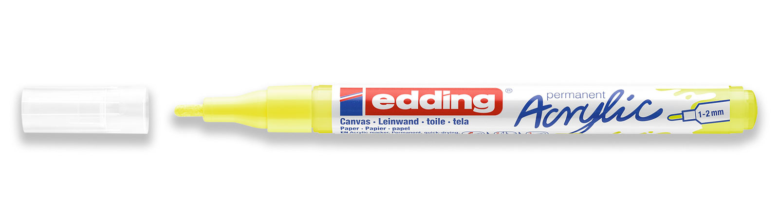 edding 5300 acrylic marker fine in yellow