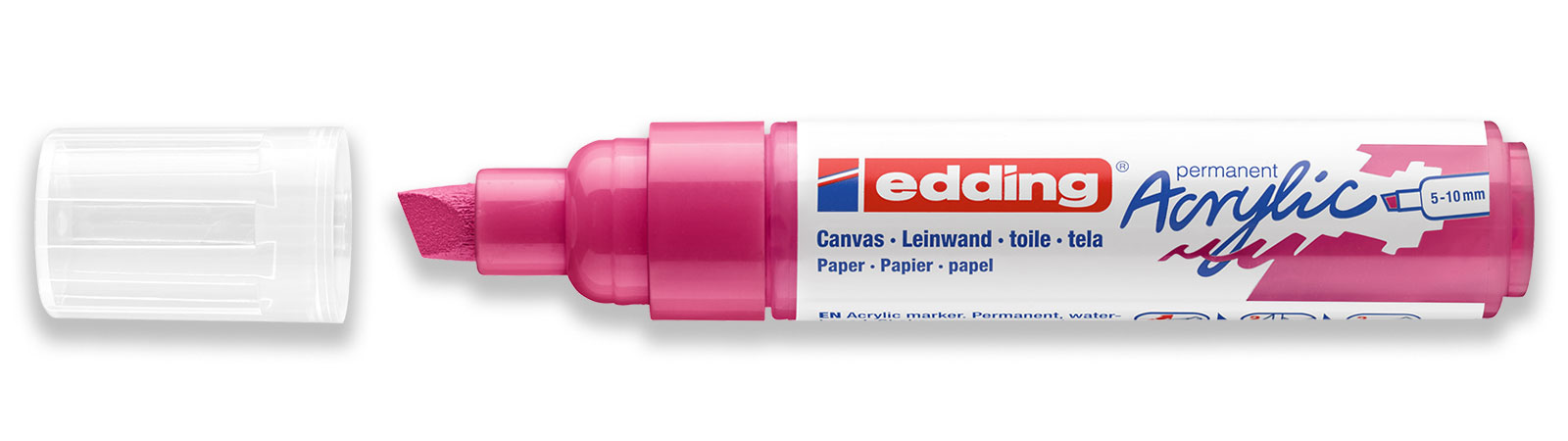 edding acrylic marker broad in pink