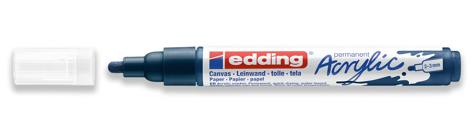 edding acrylic marker medium in dark blue