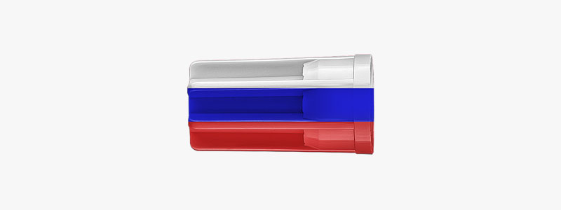 edding cap coloured as Russian flag