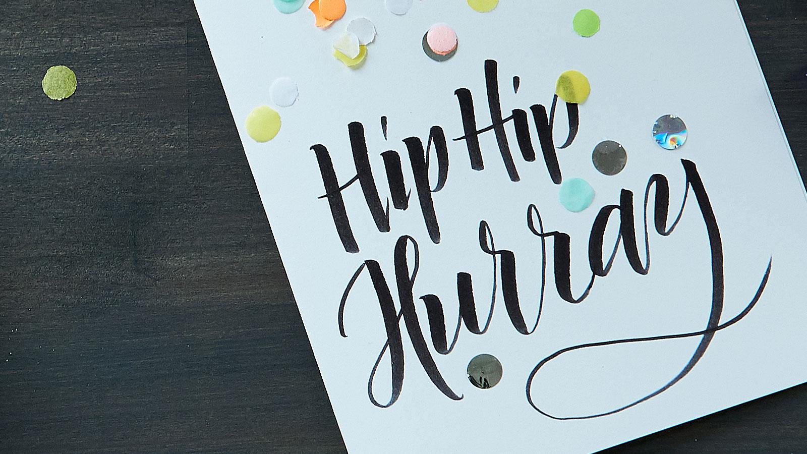 Geburtstagskarte Gestalten Ideen Edding