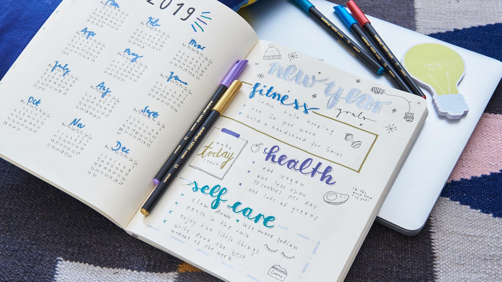 Bullet Journal Calendar - Ideen - edding