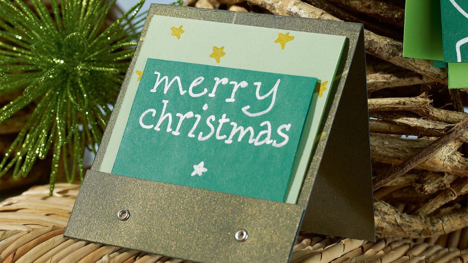 weihnachtskarten selbst gestalten ideen edding. Black Bedroom Furniture Sets. Home Design Ideas