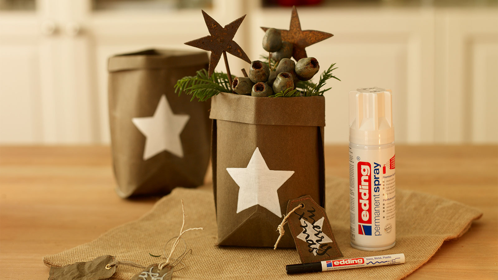 Christmas Gift Bags Made Out Of Snappap Ideas Edding