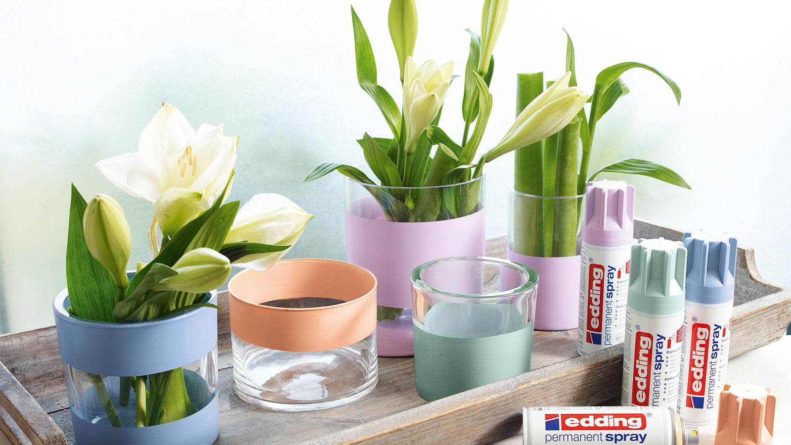 des vases en verre aux couleurs pastel - ideas - edding