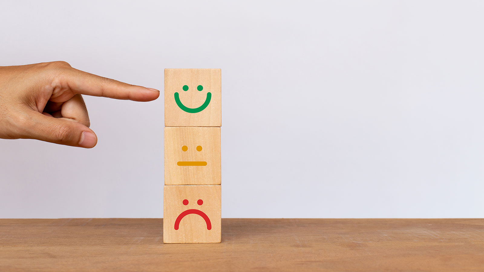 Rating scale with smileys