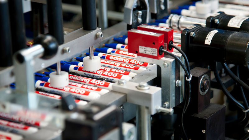 Production line of edding 400 permanent marker